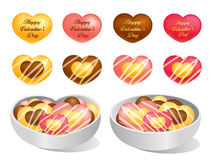 Love of cookies and chocolate. Valentine Icon Design Series. Royalty Free Stock Photography