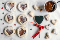 Love cookies served Stock Image
