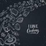 Love cooking card Royalty Free Stock Image