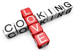 Love Cooking Crossword Stock Image