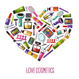 Love cosmetics concept Royalty Free Stock Photography
