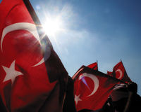 Love of country. Nationalism consept image. Turkish flags and Nationalism. Love of country royalty free stock photography