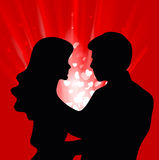 Love Couple. Illustration of a love couple Royalty Free Stock Image