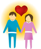 LOVE COUPLE. Symbol or icon Royalty Free Stock Photos