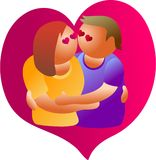 Love couple royalty free illustration