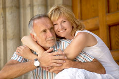 Love couple with age difference Royalty Free Stock Images