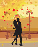 Love couple in autumn Royalty Free Stock Photo