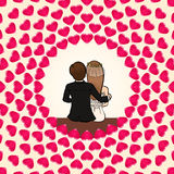 Love couple background Stock Images