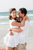 Love couple on the beach Royalty Free Stock Images