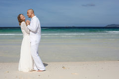 Love couple on the beach Stock Image