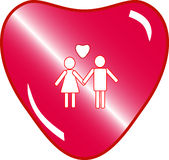 Love couple button Royalty Free Stock Photography
