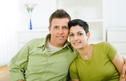 Love couple cuddling Royalty Free Stock Images