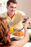 Love couple dining Stock Photography