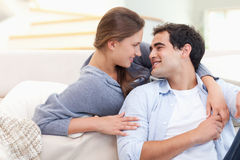 In love couple embracing each other Royalty Free Stock Photo