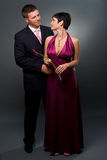 Love Couple in evening-dress Royalty Free Stock Photography