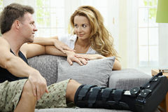Love couple at home Royalty Free Stock Photos