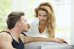 Love couple at home Stock Photo