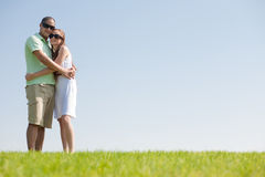 Love couple hug. Young love couple hug in the park stock photography