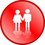 Love couple icon Royalty Free Stock Photography