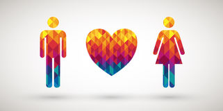 Love couple icon Royalty Free Stock Photo