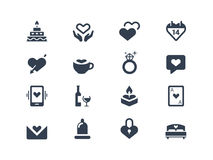 Love and couple icons Royalty Free Stock Photos