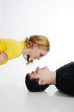 Love couple look at each other Stock Photography