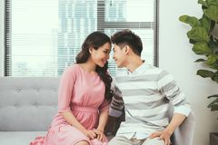 In love couple looking at each other Royalty Free Stock Photos