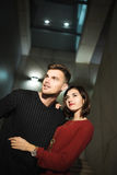 Love couple in the night city. Feelings. Love Royalty Free Stock Image