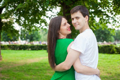 Love couple out in the park with Stock Photos