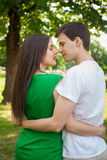 Love couple out in the park with Stock Photography