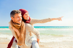 Love couple outdoors Stock Photography