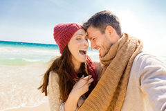 Love couple outdoors Royalty Free Stock Photo