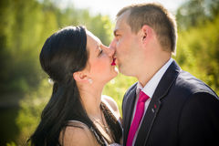 Love couple in the park Royalty Free Stock Image