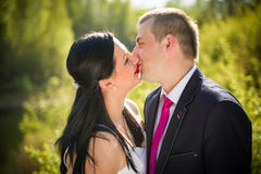 Love couple in the park Stock Image