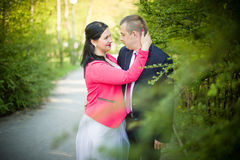 Love couple in the park Stock Photo