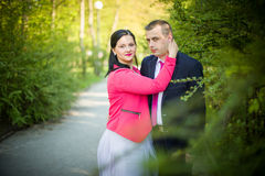 Love couple in the park Stock Images