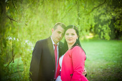 Love couple in the park Royalty Free Stock Photos