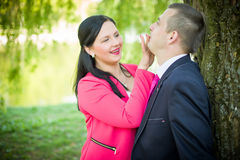 Love couple in the park Stock Photos