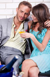 Love couple at party Stock Photos