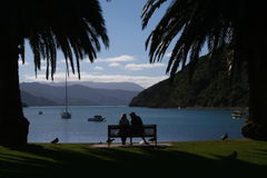 Love. A couple in Picton New Zealand Royalty Free Stock Photography