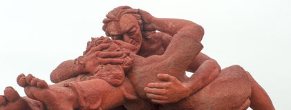 Love couple. Picture of a sculture of a love couple in Lima Royalty Free Stock Image
