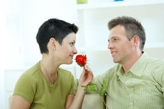 Love couple - rose Royalty Free Stock Photos