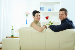 Love couple - rose Royalty Free Stock Photography