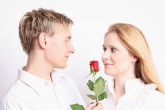 Love Couple with rose Royalty Free Stock Photo