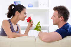 Love couple - rose Stock Photography