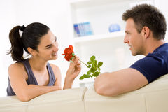 Love couple with rose Royalty Free Stock Photography