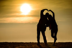 Love Couple siluate Royalty Free Stock Photos