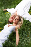Love couple sleeping Royalty Free Stock Photos