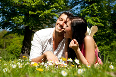 Love couple summer spring Royalty Free Stock Photos