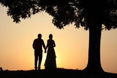 Love couple at sunset Royalty Free Stock Photos